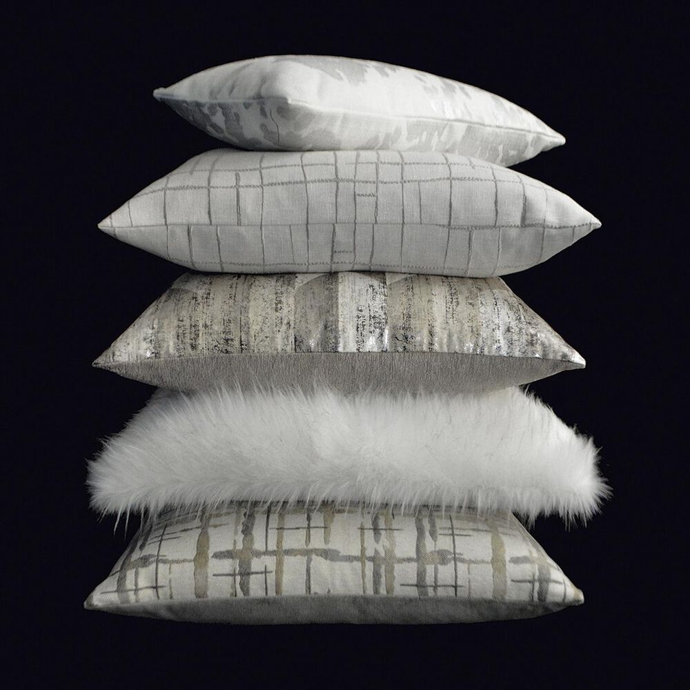 """D.V.Kap Inc 24"""" Feather Down Decorative Throw Pillow in Zoey-Silver, , large"""