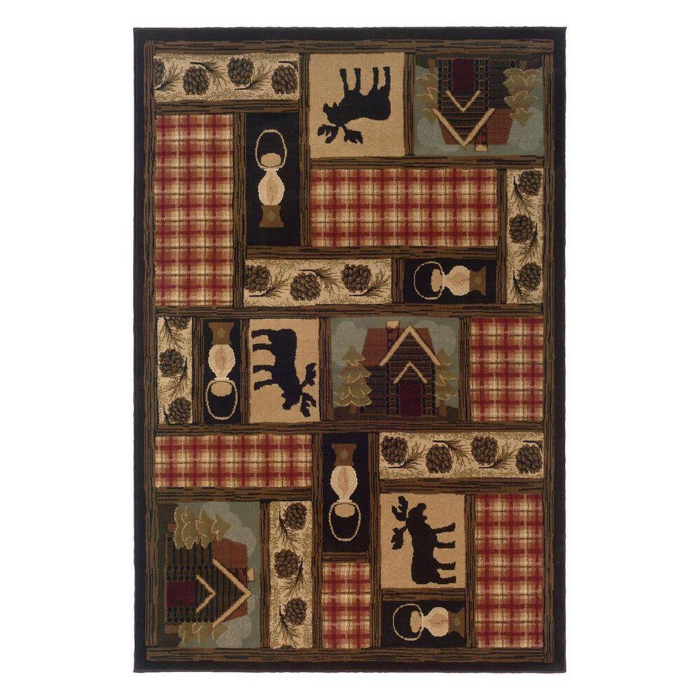 "Oriental Weavers Hudson 1067A 1'10"" x 3'3"" Brown Scatter Rug, , large"