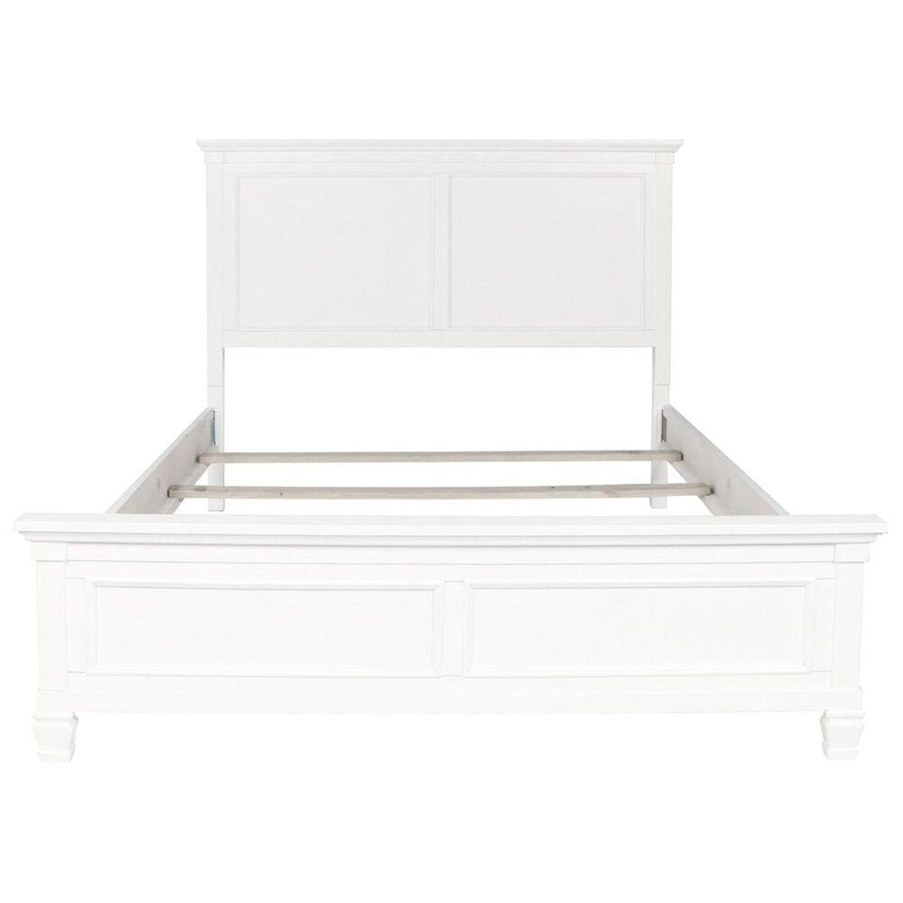 New Heritage Design Tamarack King Panel Bed in White, , large