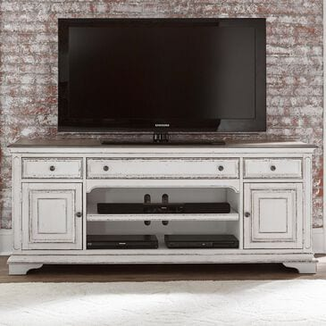 Belle Furnishings Magnolia Manor Entertainment TV Console in White, , large