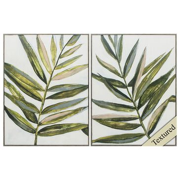 Propac Pastel Frond Wall Art in Green (Set of 2), , large
