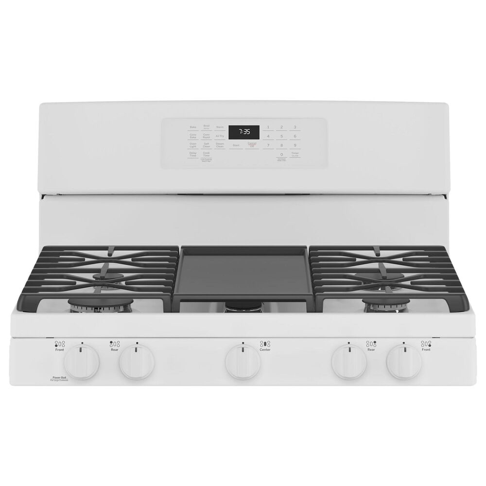 GE Appliances 2-Piece Kitchen Package with 30'' Gas Range and 1.9 Cu. Ft. Microwave Oven in White, , large