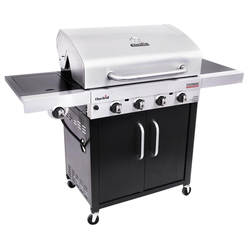 Char-Broil Performance Tru-Infrared 4-Burner Gas Grill in Stainless Steel and Black, , large