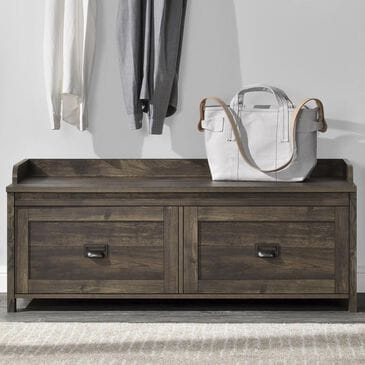 DHP Winthrop Entryway Storage Bench in Rustic, , large