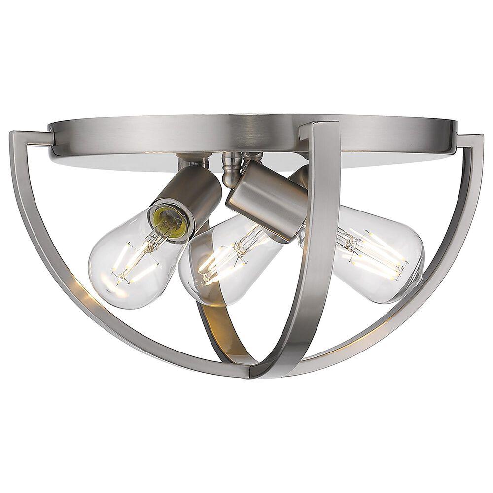 "Golden Lighting Colson 15"" Flush Mount in Pewter, , large"