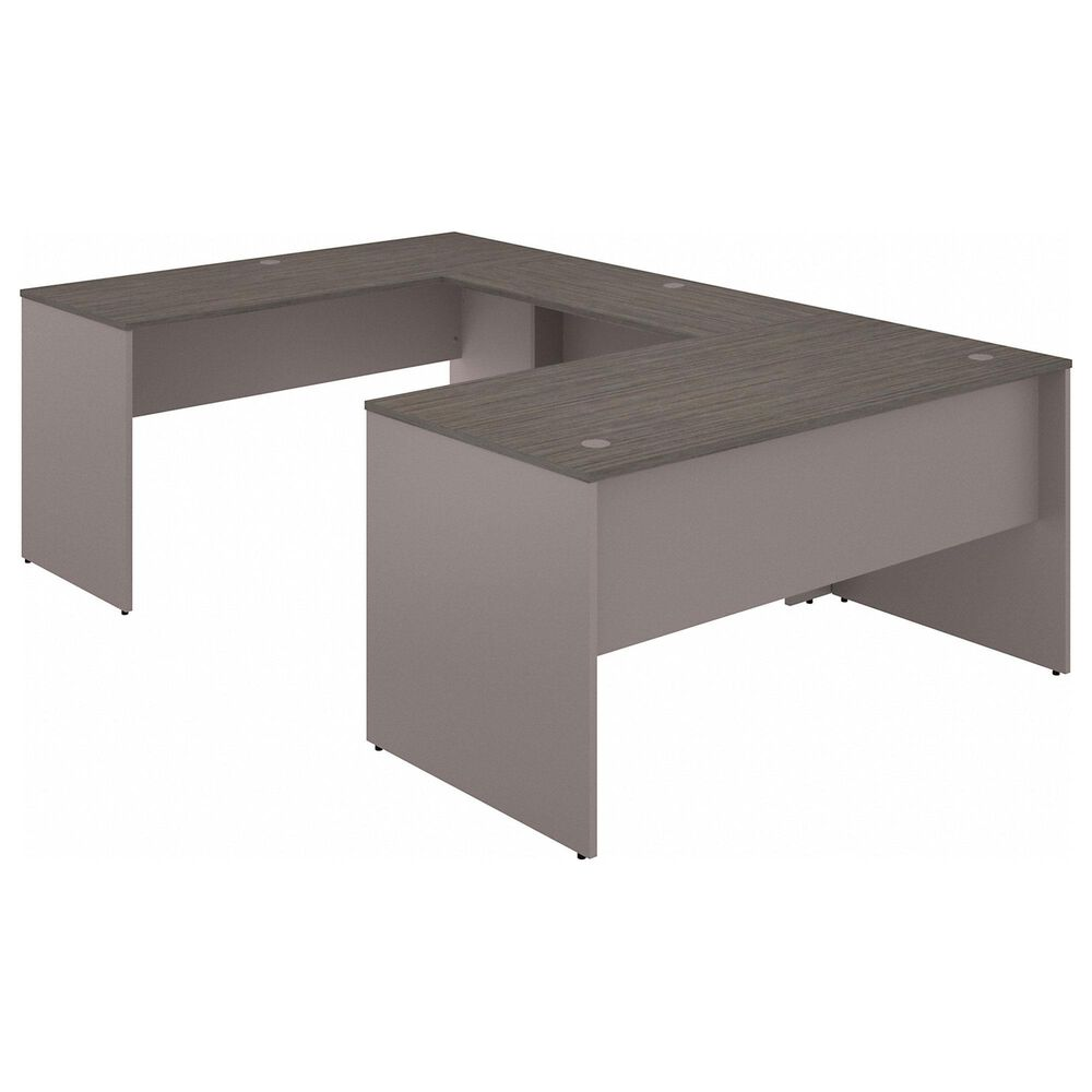 "Bush 60"" U-Shaped Desk in Cocoa/Pewter, , large"