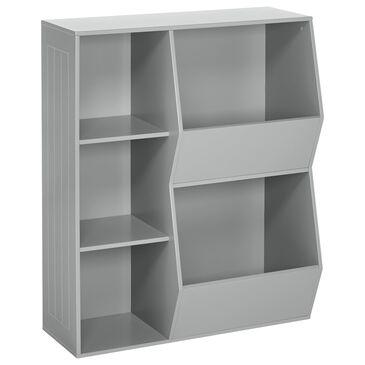RiverRidge Home Kids 3 Cubby Floor Cabinet in Gray, , large