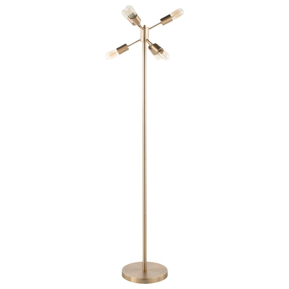 Lumisource Spark Floor Lamp in Antique Brass, , large