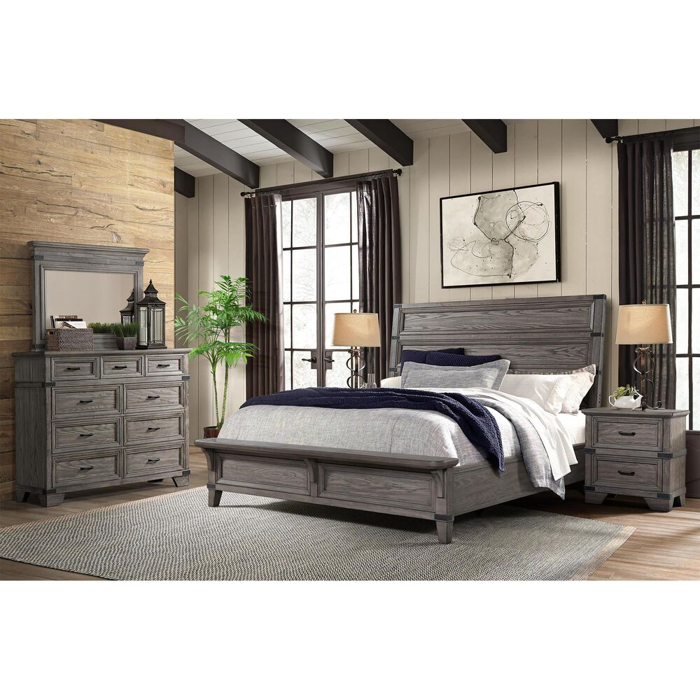 Hawthorne Furniture Forge Queen Bed in Pewter, , large