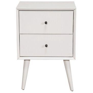 Alpine Furniture Flynn Nightstand in White, , large