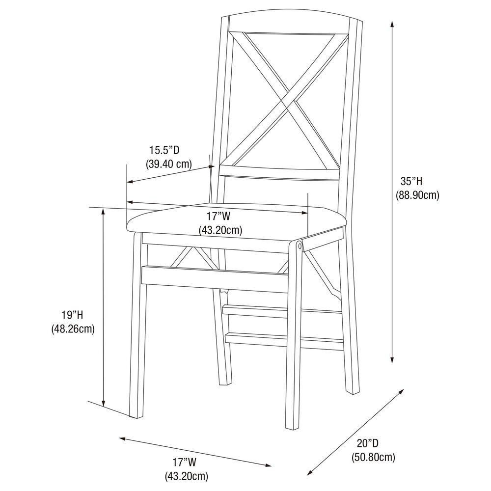 Linden Boulevard Triena Folding Chair in Espresso, , large