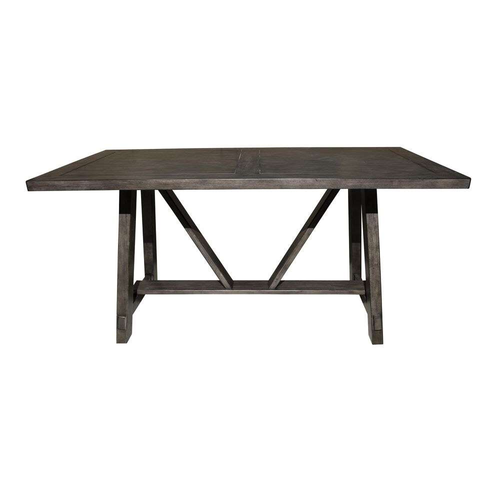 Accentric Approach Accentric Accents Benton Trestle Dining Table in Brown - Table Only, , large