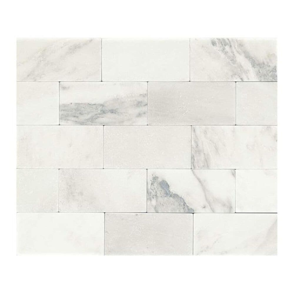 """Dal-Tile Marble First Snow Elegance 3"""" x 6"""" Tumbled Stone Tile, , large"""