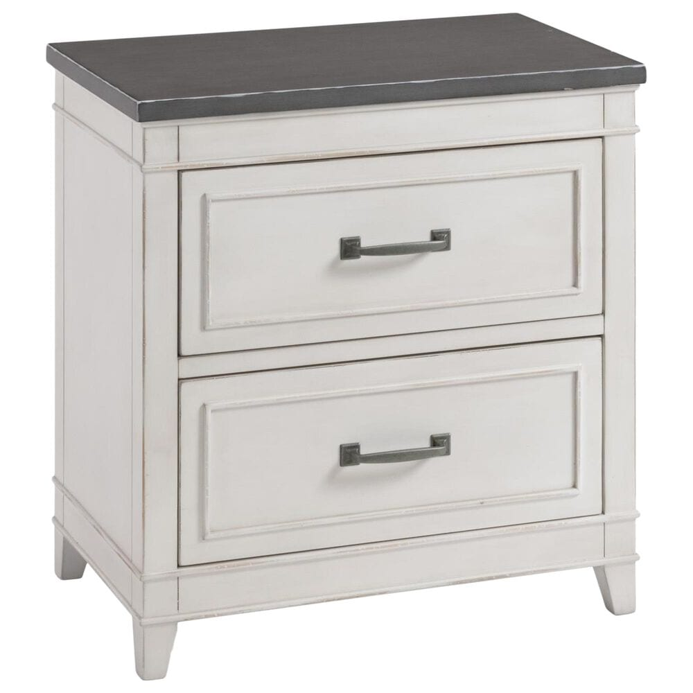 Martin Svensson Home Del Mar 4 Piece Queen Bedroom Set in Distressed White and Gray, , large