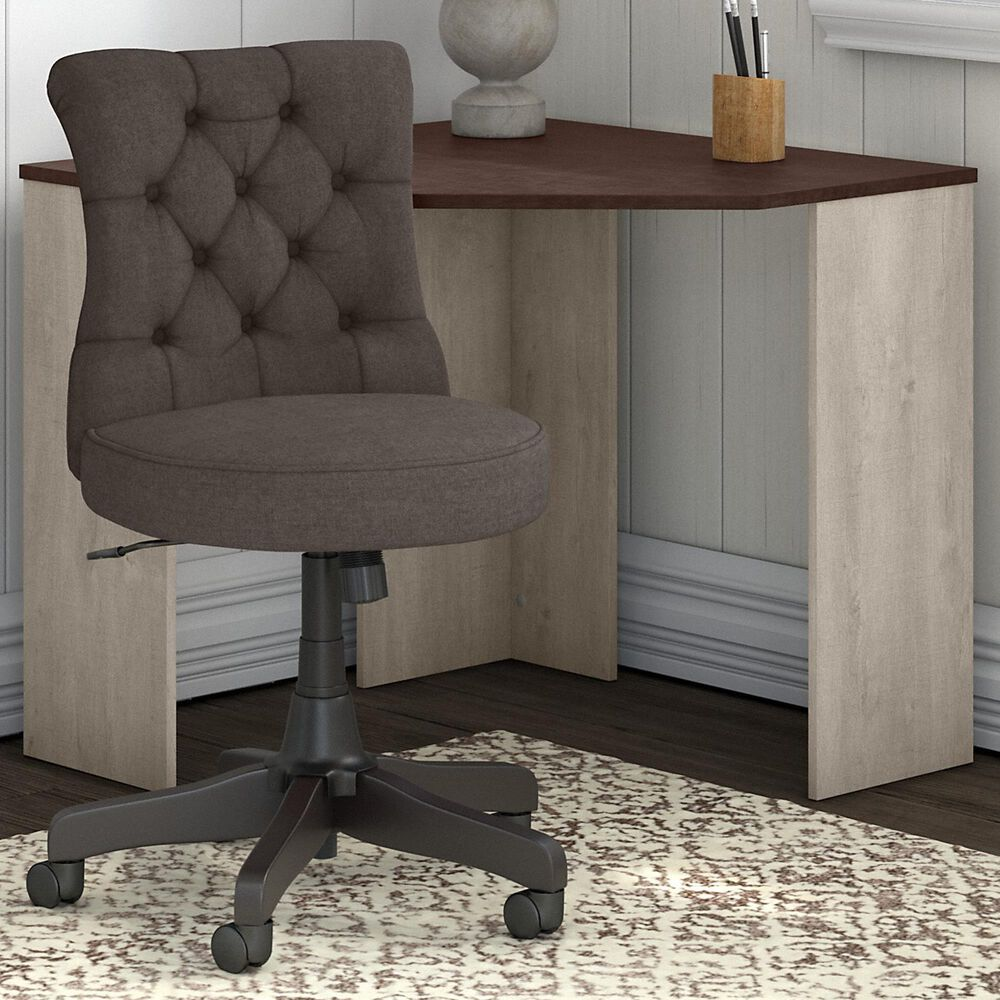 Bush Townhill 2 Piece Office Desk Set in Washed Gray/Madison Cherry, , large
