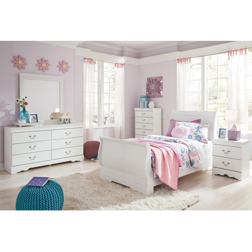 Signature Design by Ashley Anarasia 5 Piece Twin Bed Room Set in White, , large