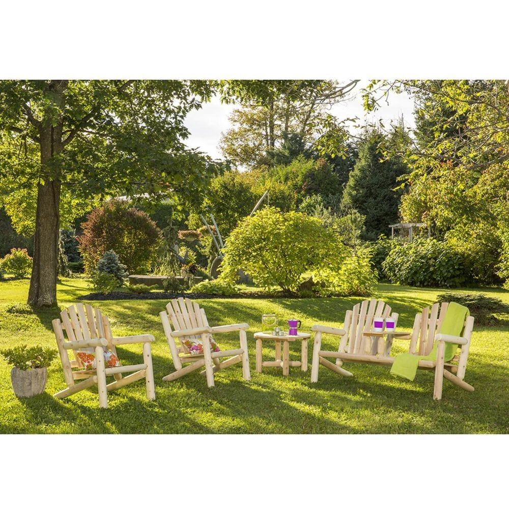 Bestar Outdoor White Cedar Elite Settee in Natural, , large