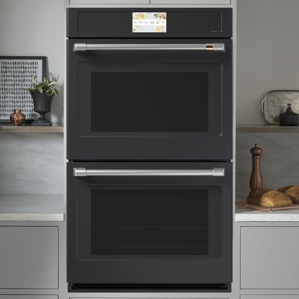 """Cafe 30 """" Smart Built-In Convection Double Wall Oven in Matte Black, , large"""