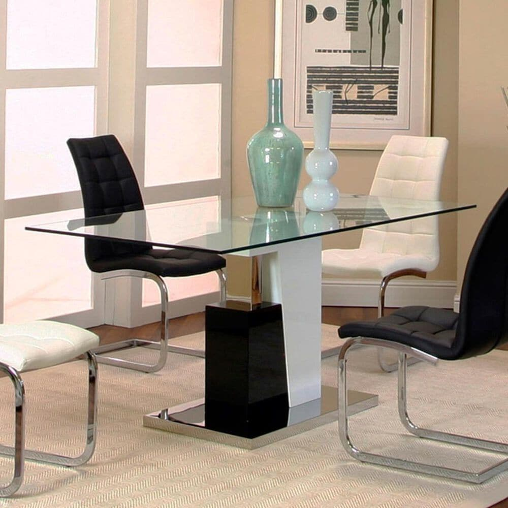 Penny Lane Padria Dining Table in Black and White - Table Only, , large