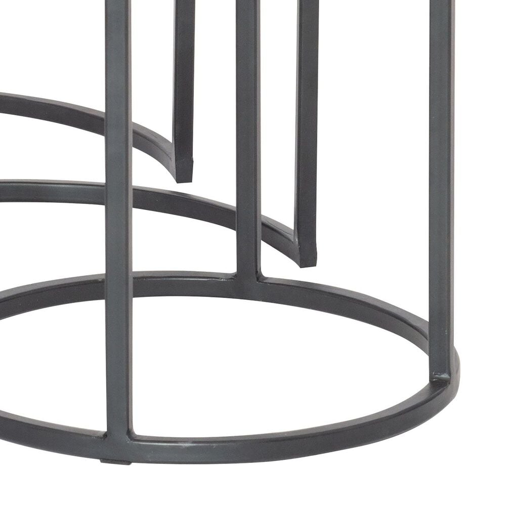 Uttermost Erik Nesting Tables in Aged Black and Antiqued Nickel, , large