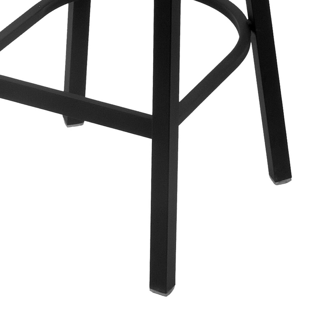 """Holland Bar Stool 400 25"""" Stationary Counter Stool with Black Wrinkle and Canter Folkstone Grey Seat, , large"""