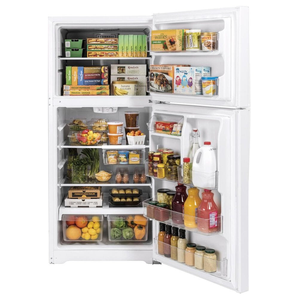 GE Appliances 19.2 Cu. Ft. Top-Freezer Refrigerator in White, , large