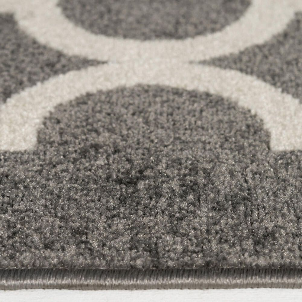 """Central Oriental Terrace Tropic Taza 8'8"""" x 11'10"""" Stone and Snow Area Rug, , large"""