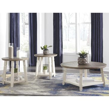 Signature Design by Ashley Bolanbrook 3-Piece Occasional Table Set in White and Weathered Oak, , large