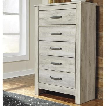 Signature Design by Ashley Bellaby 5 Drawer Chest in Whitewash, , large