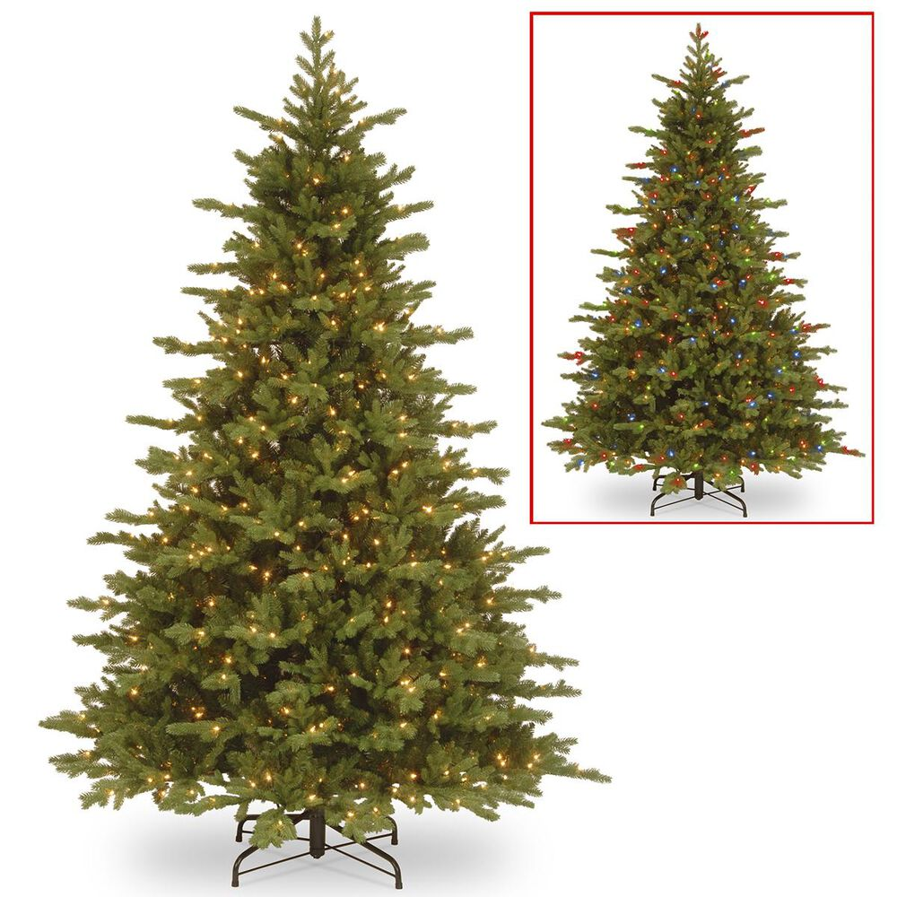 """National Tree 7.5"""" Feel Real Vienna Fir Tree with 750 Dual Color LED Lights, , large"""