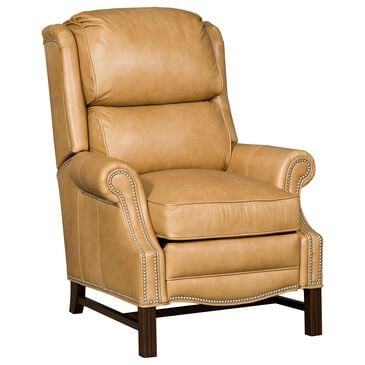 Bradington-Young Alta Leather Recliner in Gold, , large
