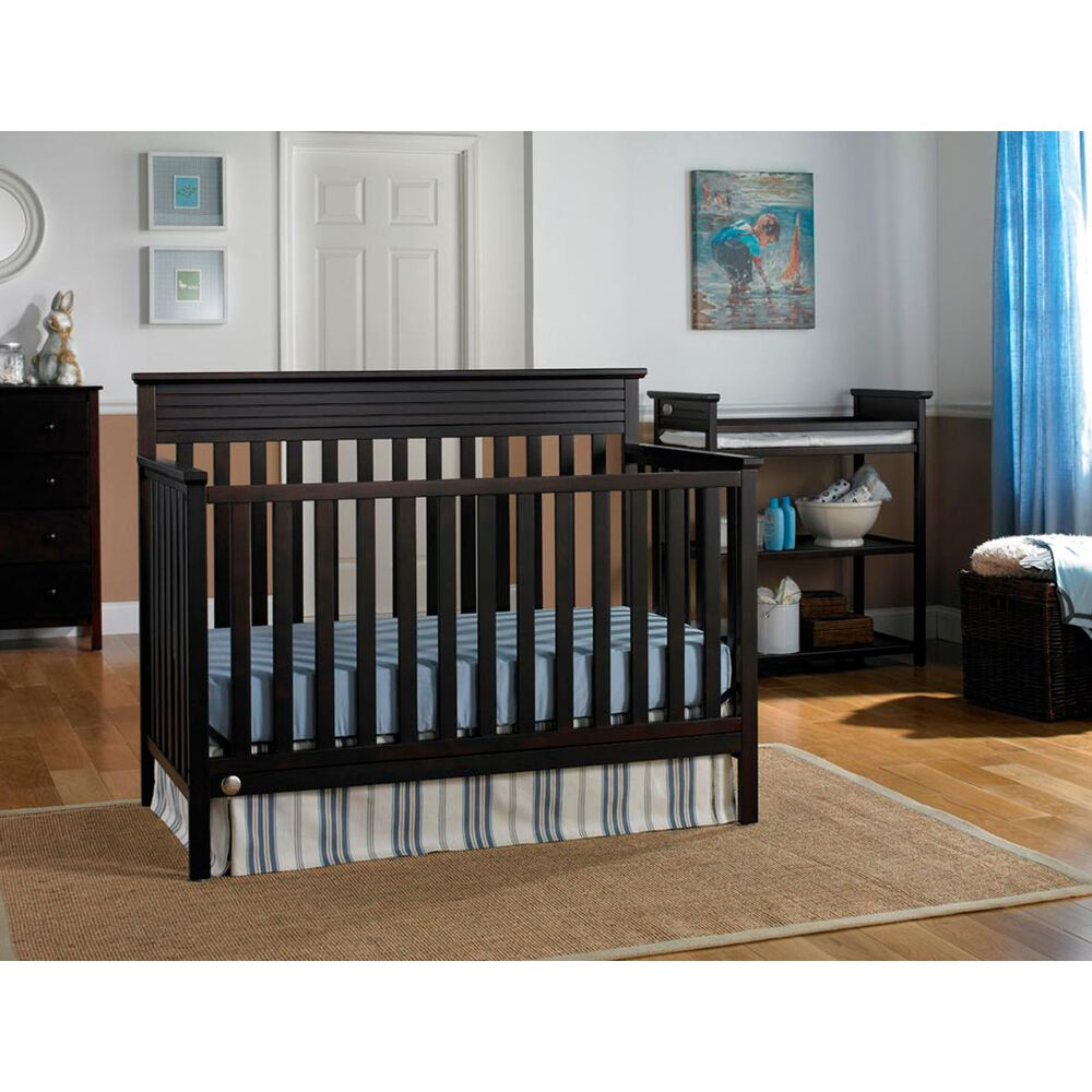 Little Dreamer Newbury 4-in-1 Convertible Crib in Espresso, , large