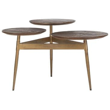 Safavieh Ian 3-Circle Accent Table in Rustic Honey and Gold, , large