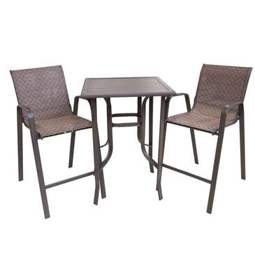 Loni Birch 3-Piece Bar Height Bistro Set in Brown, , large