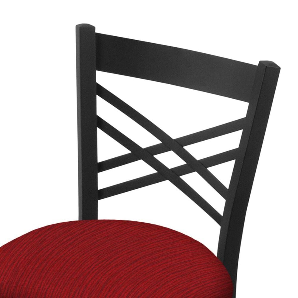 """Holland Bar Stool 620 Catalina 18"""" Chair with Black Wrinkle and Graph Ruby Seat, , large"""