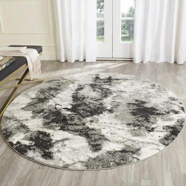 Safavieh Retro RET2141-1180 6' Round Cream and Grey Area Rug, , large