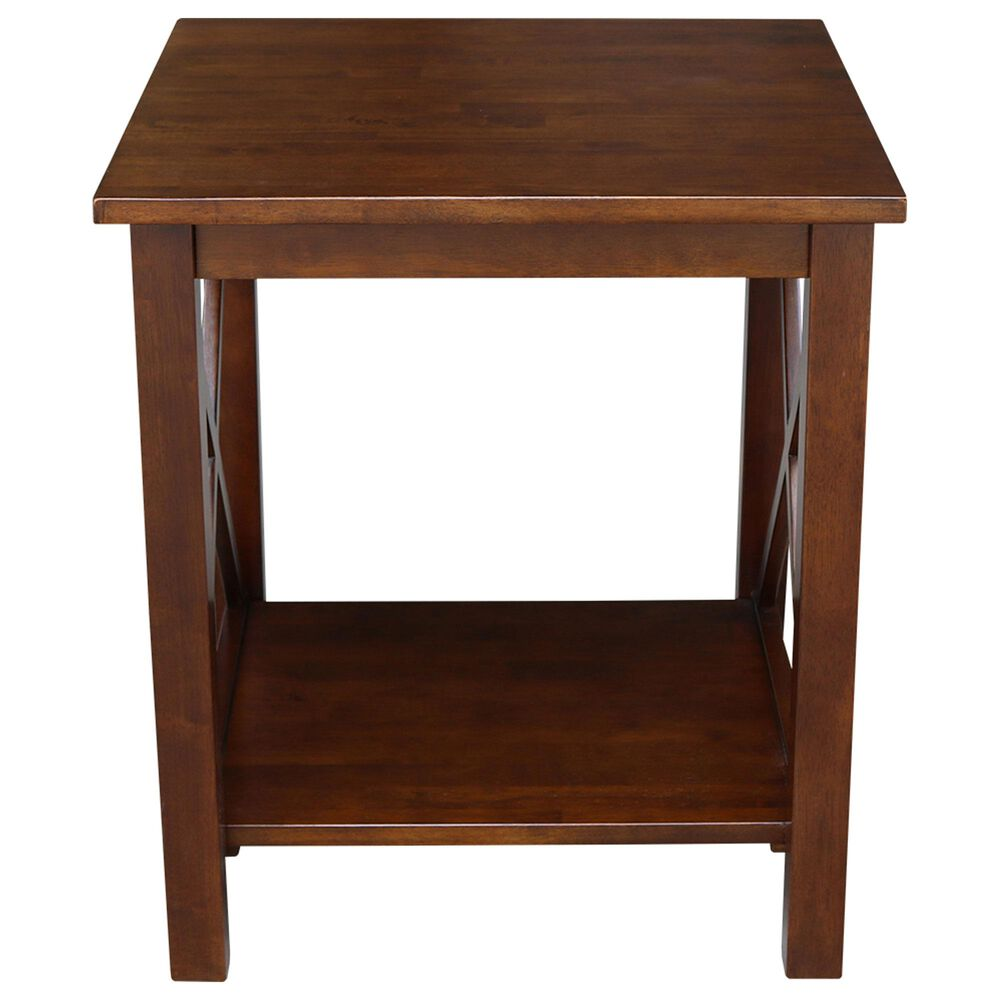 International Concepts Hampton End Table in Espresso, , large