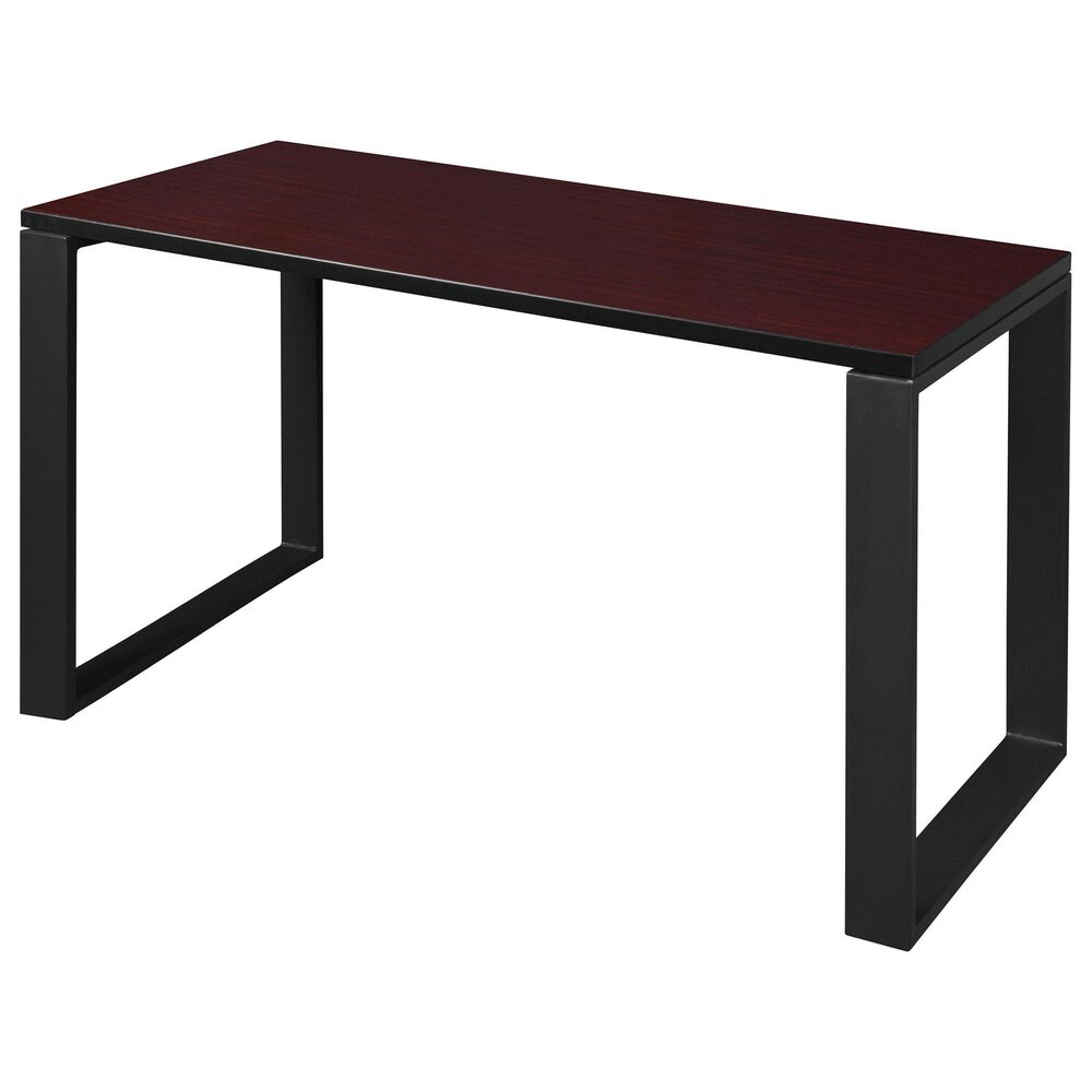 "Regency Global Sourcing Structure 42"" x 24"" Training Table in Mahogany/Black, , large"