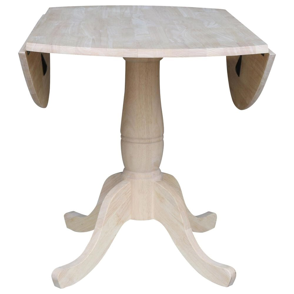 """International Concepts 42"""" Modern Farmhouse Drop Leaf Dining Table in Light Wood , , large"""