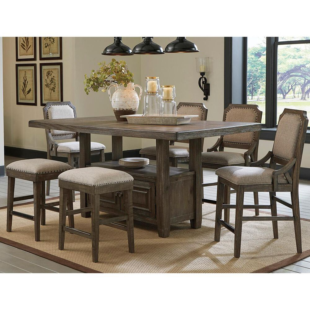 Signature Design by Ashley Wyndahl 7-Piece Counter Height Dining Set in Rustic Brown, , large