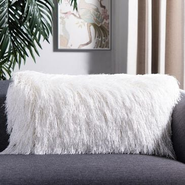 """Safavieh Shag 12""""x20"""" Pillow in Pearl, , large"""