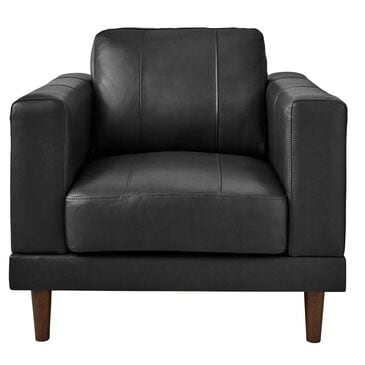 Mayberry Hill Hampton Leather Chair in Fiero Charcoal, , large