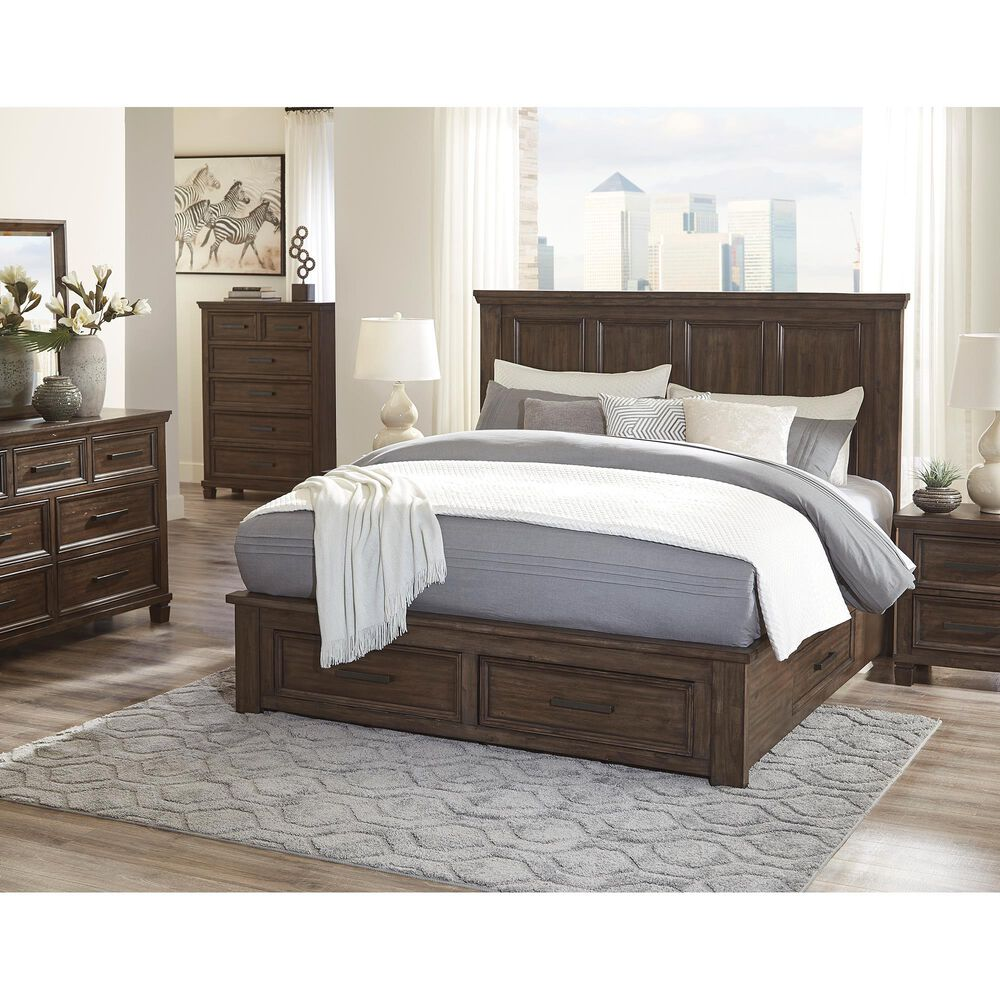 Signature Design by Ashley Johurst Queen Storage Bed in Grayish Brown, , large
