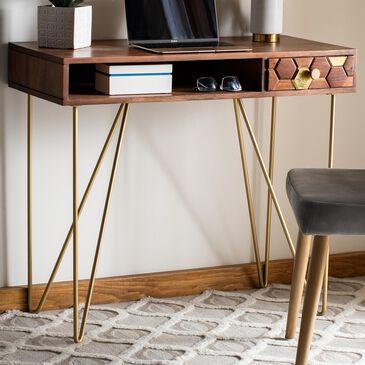 Safavieh Raveena Desk in Natural/Brass, , large
