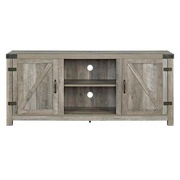 "Walker Edison Wallington Collection 58"" Barndoor TV Stand in Grey Wash, , large"