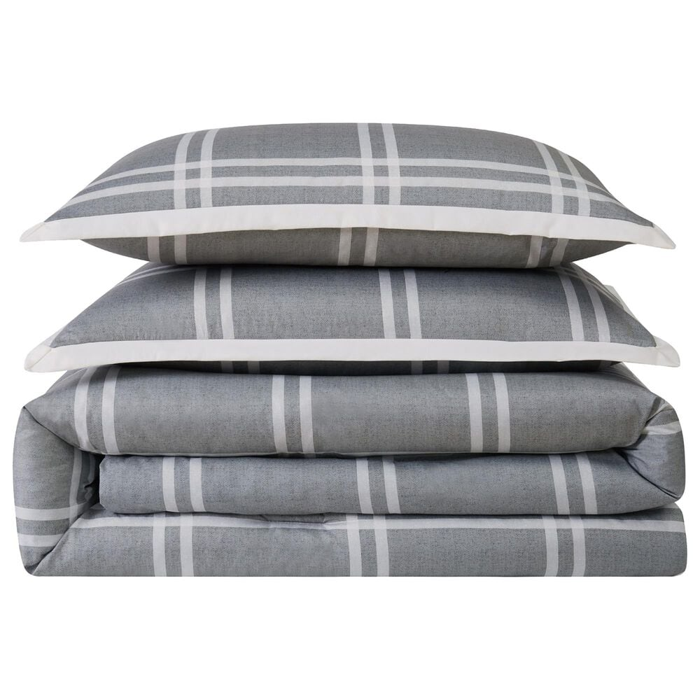 Pem America Truly Soft Leon 3-Piece Full/Queen Duvet Set in Grey, , large
