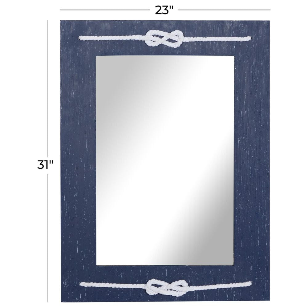 """Maple and Jade 23"""" x 31"""" Wall Mirror in Blue, , large"""