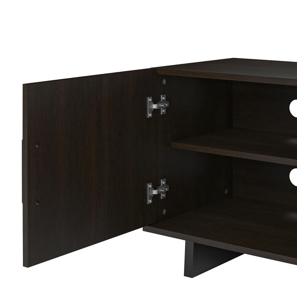 """DHP Dougherty 60"""" TV Stand with Fireplace in Dark Russet Cherry, , large"""