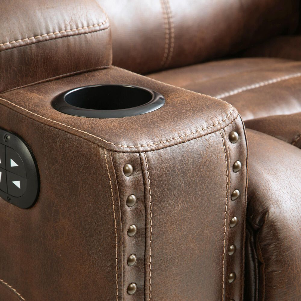 Signature Design by Ashley Owner's Box Power Recliner with Power Headrest in Thyme, , large