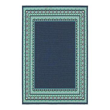 """Oriental Weavers Meridian 9650B 3'7"""" x 5'6"""" Navy Area Rug, , large"""